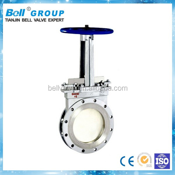 6 inch pn16 Rising Stem Knife Flanged Gate Valve Price