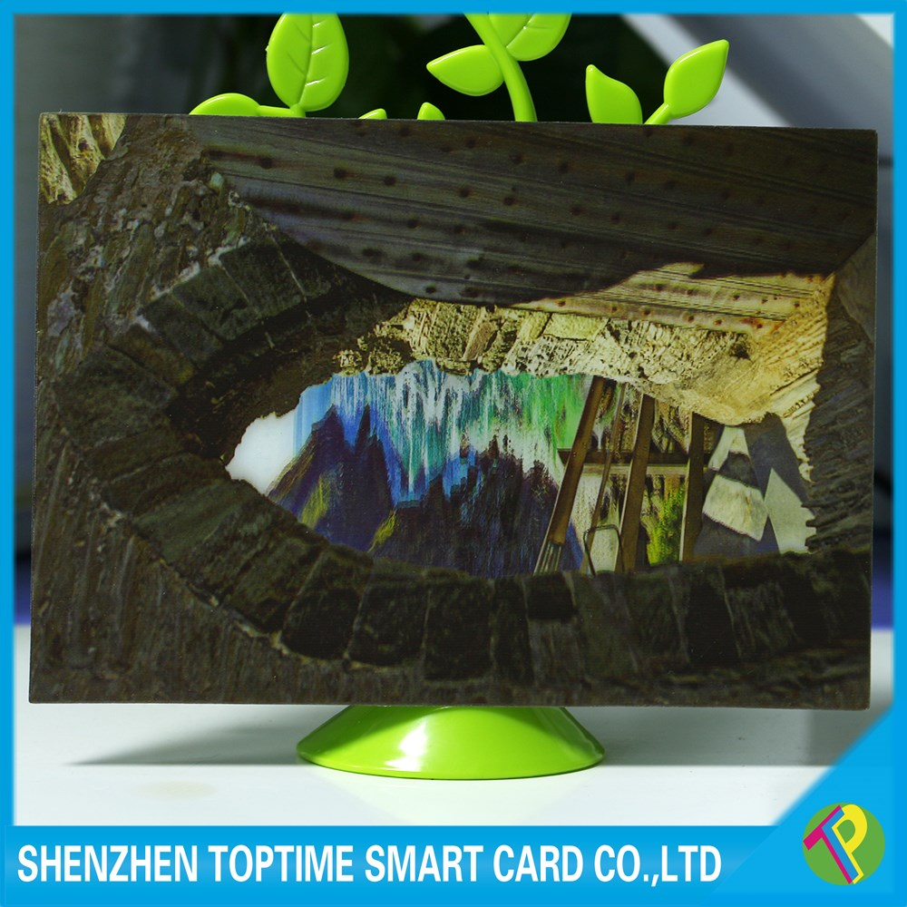 100lpi flipping full color printing HD 3D lenticular playing card