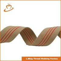 Factory price custom logo cotton webbing strap for bags