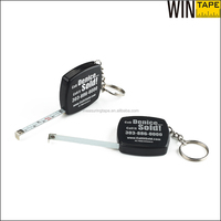 Alloy metal type and gift type square steel tape measure with key chain