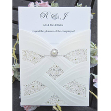 2017 hot sale coutomized elegant wedding invitations with laser cut, fan shaped wedding invitations
