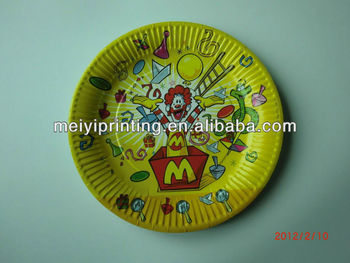 Kids Party Fancy Paper Plates/Paper Dishes