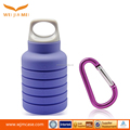 Travel sport silicone water bottle non-toxic Food Grade silicone collapsible pocket water bottle for sport