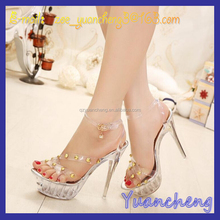 Crystal Sandals, New Spring Summer Autumn Riveting High-heeled Shoes, Fashion Female Belt Shoes