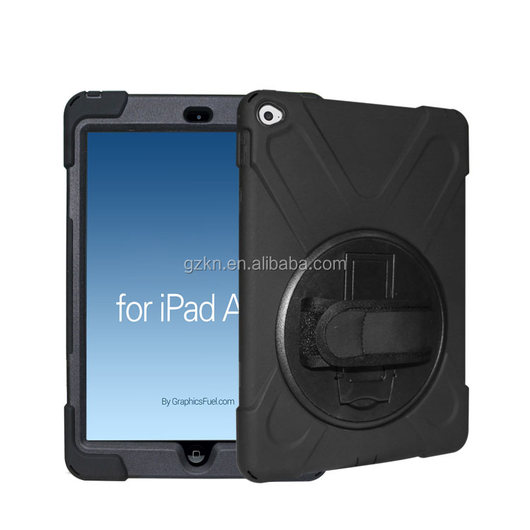 For iPad Air 2 shokcproof protector case with shoulder and hands strap