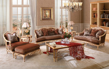 Villas furniture of Vintage Wooden Furniture Model Sofa Set, Luxury Classic Home Furniture Antique Style
