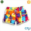 2015 summer women short board 100% polyester stretch shorts