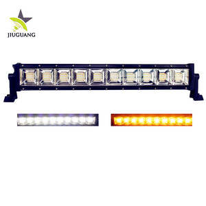 Single Row Spot Flood Dual Color White Amber 22inch Strobe Led Light Bar