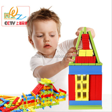 2016 new design Creative spatial thinking fight inserted blocks puzzle wooden children's toys 100pcs