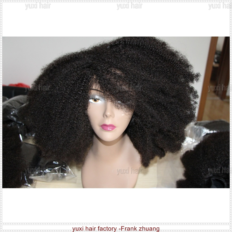 Real Virgin afro kinky curly U part wig for black women