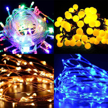 copper wire/ball/curtain decorative led holiday light battery operated usb led christmas tree light
