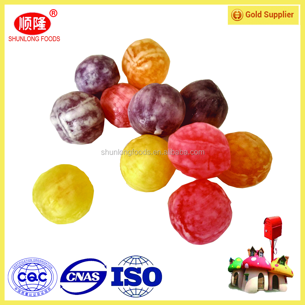 kids sweet!acid bombs hard candy,ball shape assorted fruit hard candy with goods quality