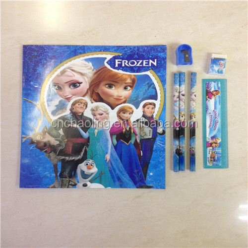 factory price stationery sets cartoon gift item stationery sets 5pcs stationery sets for kids children back to school