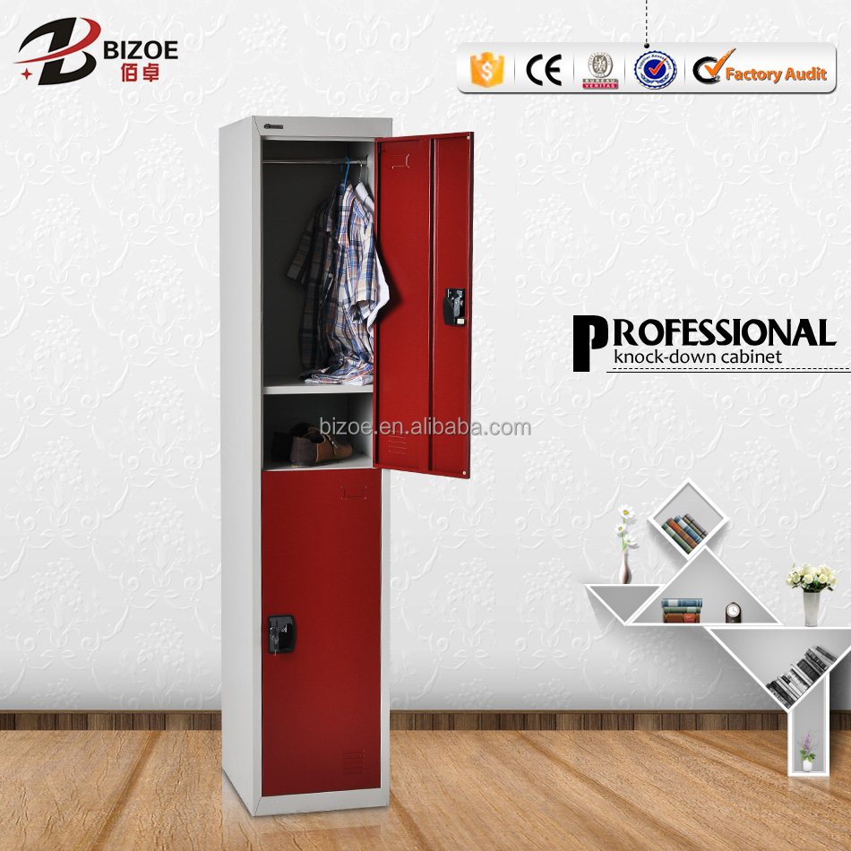 Hot Sale Bedroom 2 Door Metal Locker Compartment Steel Shoes Locker