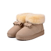 C57945S Hot sale keep warm design bowknot fashion winter ladies snow boots