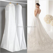 Black White Wedding Dress Cover / Protesting Garment Bag / Waterproof Dustproof Storage Bag