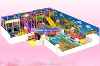 colourful indoor playground equipment park with games