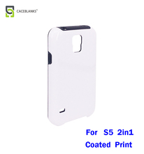 3d flexible soft tpu + pc phone case sublimation blank matte print case for S5