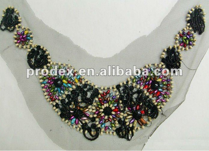 garment beaded neck trimming neck designs for ladies tops
