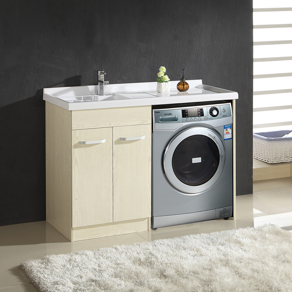 1012 Modern laundry sink cabinet for washing machine