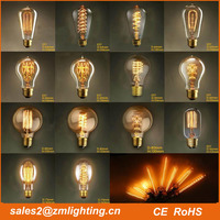 2016 Hot Sale Edison Light Bulbs A19/ST64/ST58/G125 Vintage edison Lamps E26/B22/E27 Bulbs 25w 40w 60w