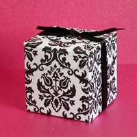 5*5*5cm damask candy box ,chocolate box ,packaging box