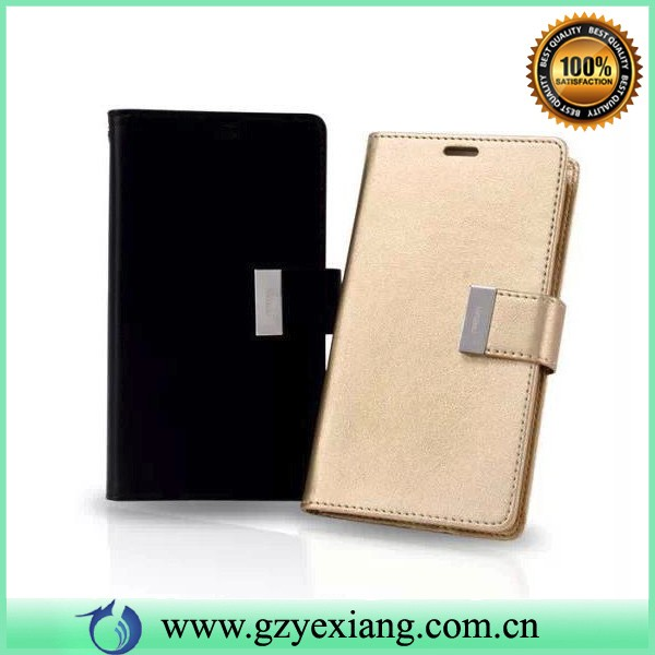 new coming metal magnet flip cover case for lg l60 leathe wallet case