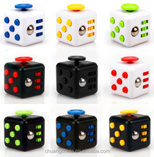 2017 Newest Relieves Anxiety Desk Toys Anti Stress 6 sides magical Fidget Cube plastic material