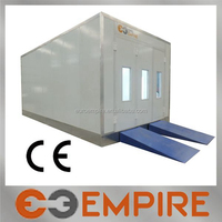 Advanced car painting used portable powder coating spray booth for sale with heat lamp