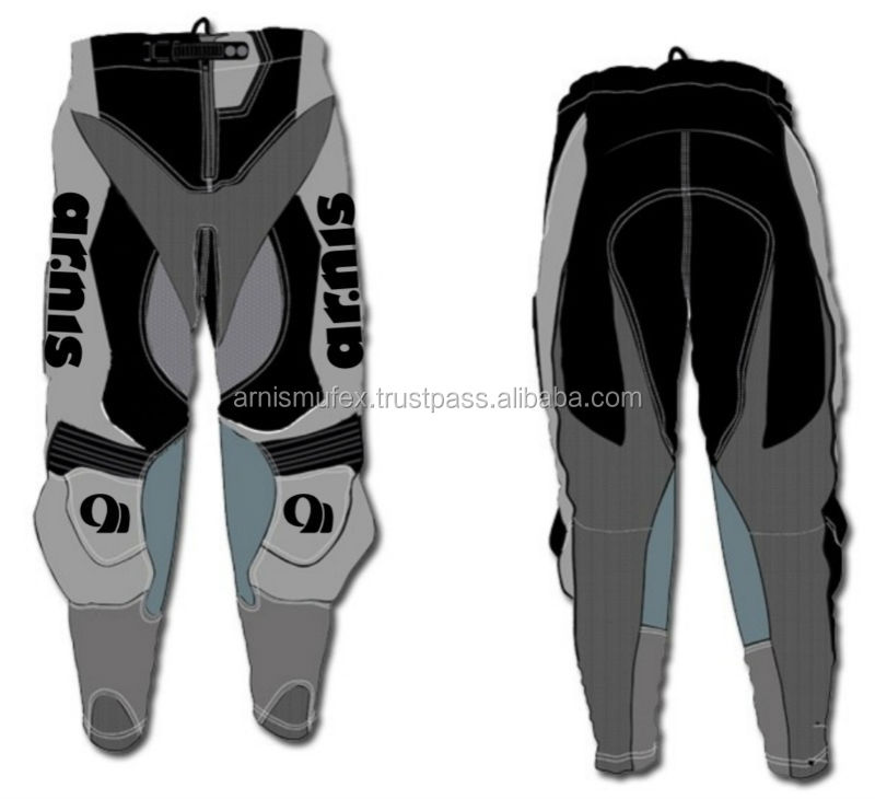 Custom Sublimation Cordura MX Motocross Pant with leather protection