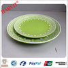 HOT!!! Green Color Glaze Dishes/made in china vintage ceramic plates set/Alibaba clay earthenware dinner plates