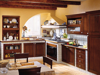 High quality standard light brown color birch wood kitchen cabinet