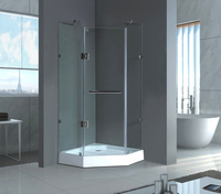 2015 new design tempered galss frameless shower door
