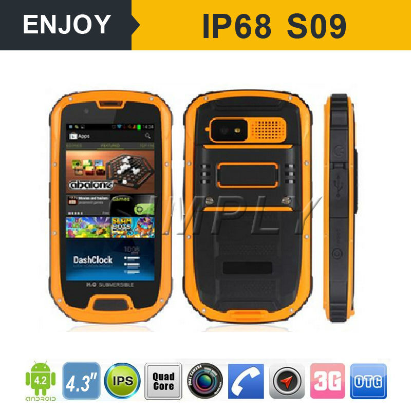 android 4.4 GPS 3G IP68 waterproof shockproof military gsm cell phone
