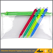 Phthalate free clear vinyl pvc zipper pouch durable design clear plastic bag, zipper pvc pouch
