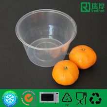 plastic transparenet round shape christmas food storage containers 1000ml
