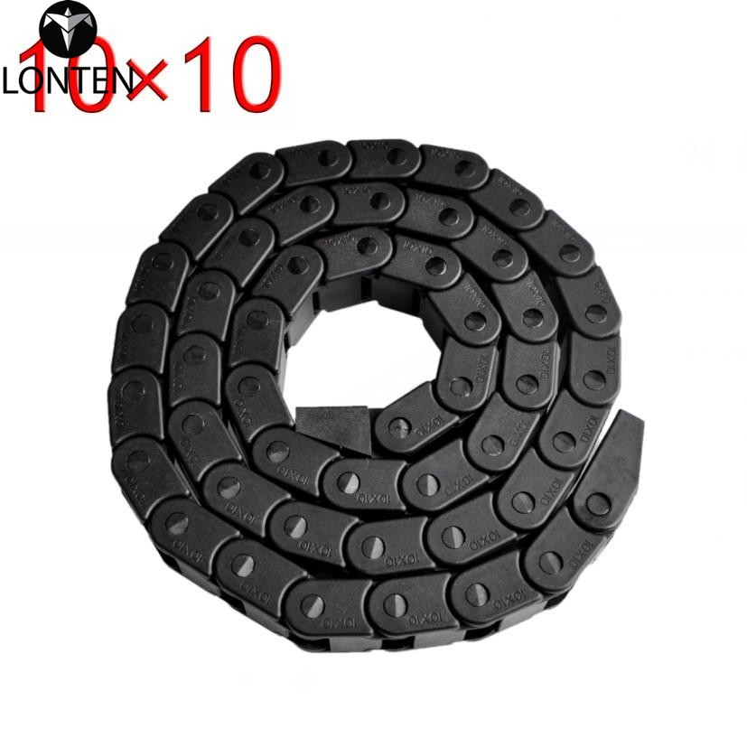 Lonten Best price!!! <strong>10</strong> <strong>x</strong> 10mm L1000mm Cable Drag Chain Wire Carrier with end connectors for CNC Router Machine Tools