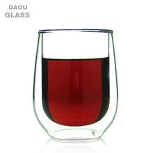 250ml double wall clear glass mug without handle pyrex double wall glass coffee cup borosilicate glass measuring cup