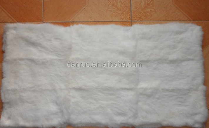 Real rex rabbit neck and head part of fur skin blanket/ multiple colour soft warm fur mattress rugs plate