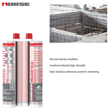 Bulk epoxy resin adhesive for concrete and metal chemical mortar anchoring