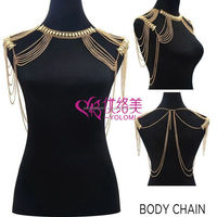Shoulder Chain Jewelry European and American Fashion Chain Shoulder Jewelry Body Jewelry 1112A