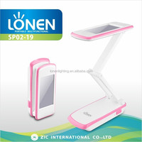 LONEN new style mirror design 28 SMD super bright powerful table lamp 2015