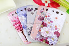 beautiful rose design for samsung galaxy S3 i9300 plastic replacement phone battery cases