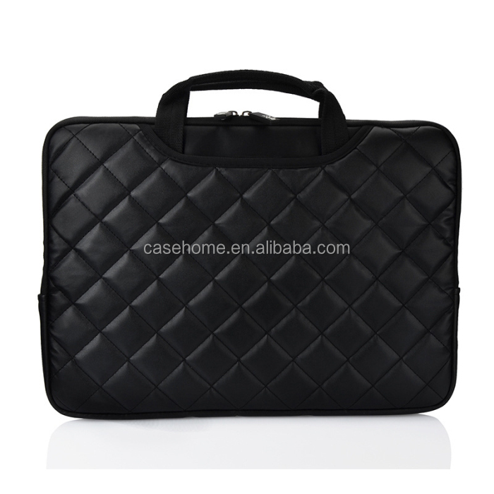 Laptop bag black PU leather business briefcase for Macbook Air pro 11'12'13'15' shockproof laptop bag