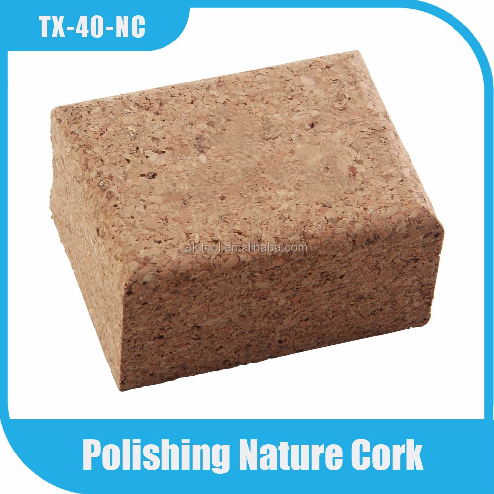 nordic ski waxing polishing solid cork Block
