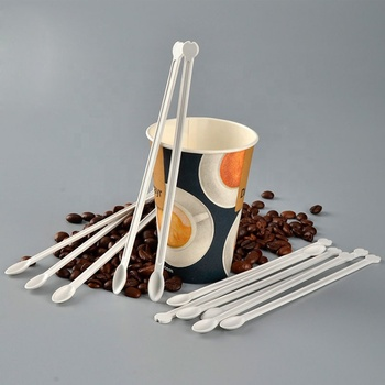 Hot selling eco pla degradable tableware disposable plastic tea coffee stir stick