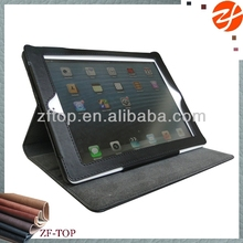 for ipad air business notebook folio leather case with multi standing angles