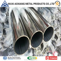 TP 304 High Polished Welded Pipe With PVC Coated Stainless Steel Tube