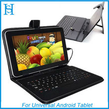 "Mini Micro USB Keyboard Leather Case For Android Tablet 10.1"" 9.7"" 9"" 8"" 7"""