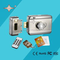 sliding door key lock single cylinder remote control & reading card on outside